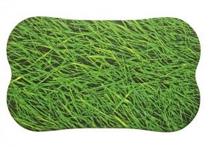Gummi Badematte, Wanneneinlage mit bedruckter Stoffoberfläche Motiv Gras