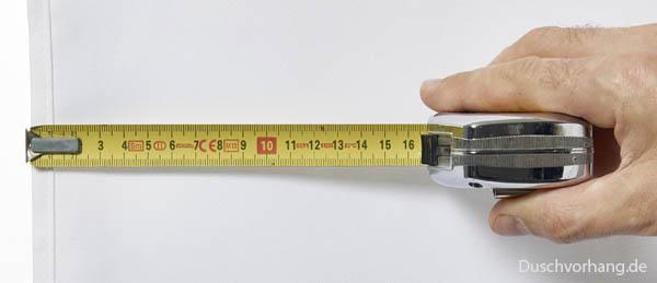 Praxistip: Wie wird die richtige Duschvorhang Größe Breite Länge bestimmt?!