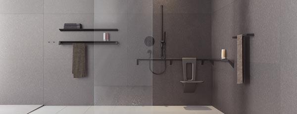 Planungs Empfehlung für barrierefreie, ebenerdige Badezimmer