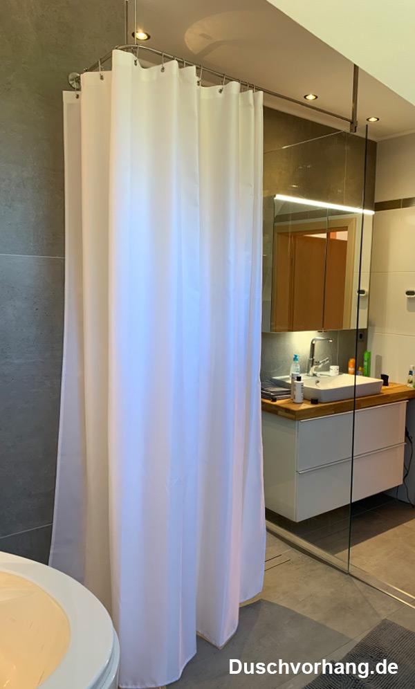 Duschvorhang Glaswand