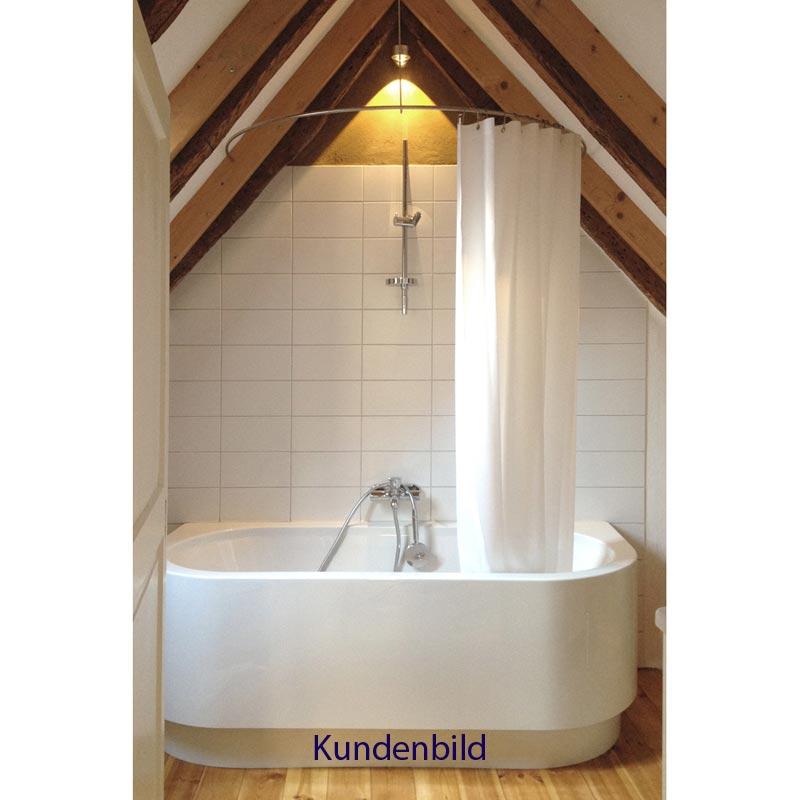 Duschstange Halbkreis Dr70hd Deckenhalterung 12mm Edelstahl Duschvorhang De Einfach Gute Duschvorhange