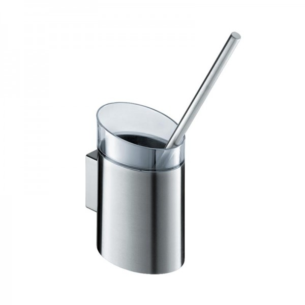WC Bürsten Halter Edelstahl oval mit Kunststoff Einsatz zum desinfizieren und einfachen reinigen