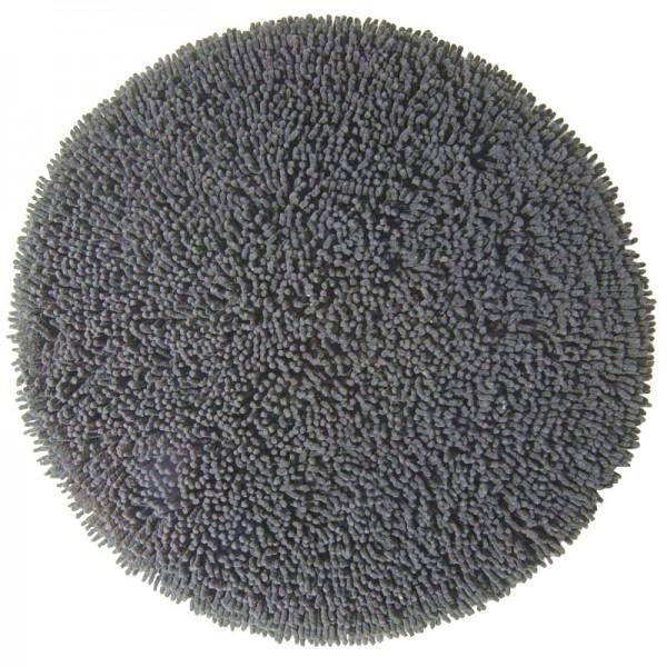 Badezimmerteppich rund Chenille Charcoal