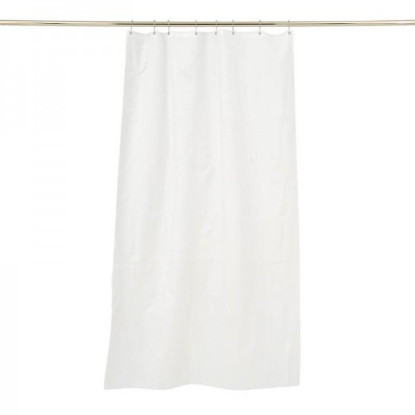 Duschvorhang Textil Weiß 100x200 Trevira CS