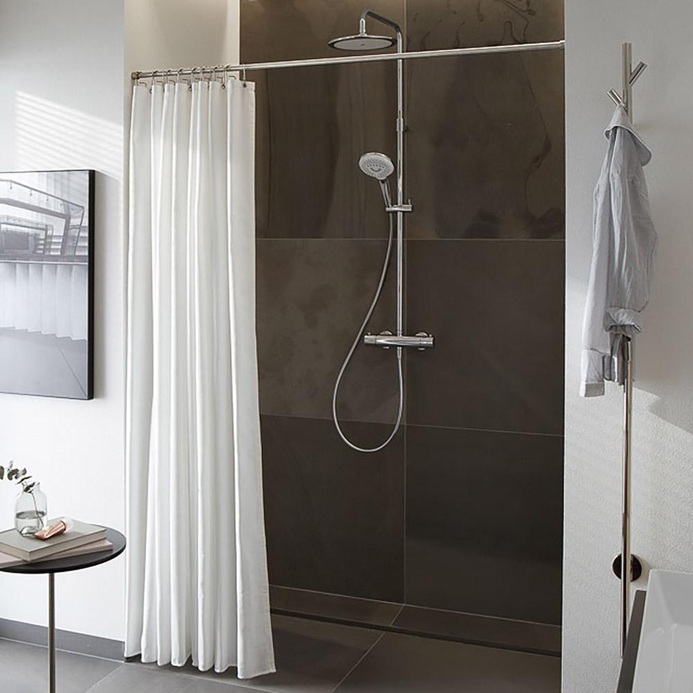 Duschvorhangstange Duschnische   20 mm Edelstahl