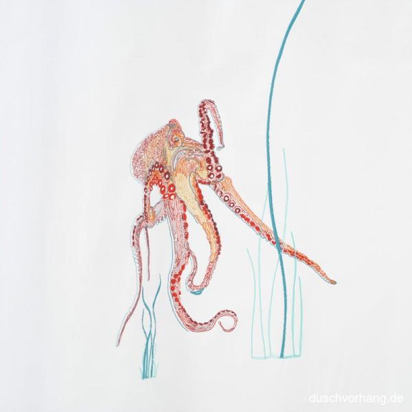 Individualisierung Stickerei Motiv Oktopus