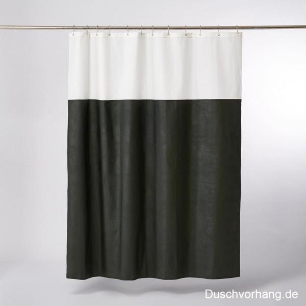 DUWAX Textil Duschvorhang Grün Natur