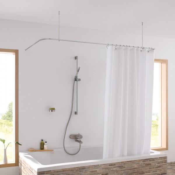 Duschvorhangstange-Badewannen-U-Form-Decke-Edelstahl-PHOS
