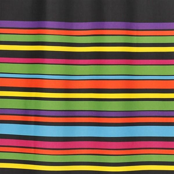 Duschvorhang Textil 150x200 Multi Schwarz
