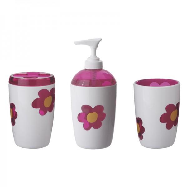 3er Set Plastikbecher Spring Pink