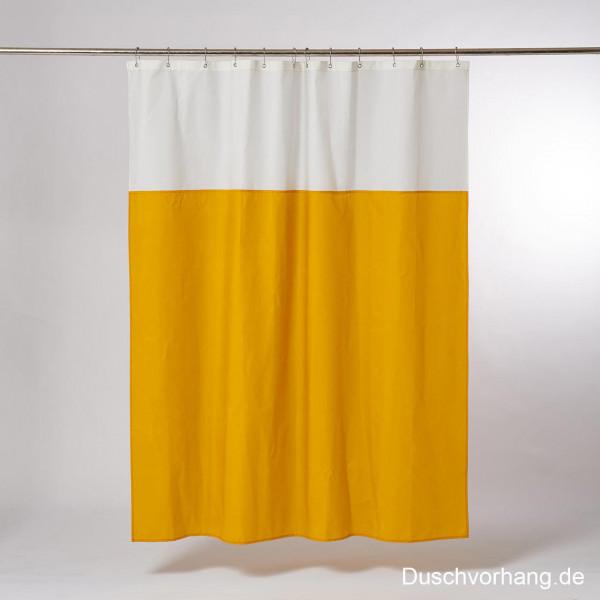 DUWAX Textil Duschvorhang Gelb Natur