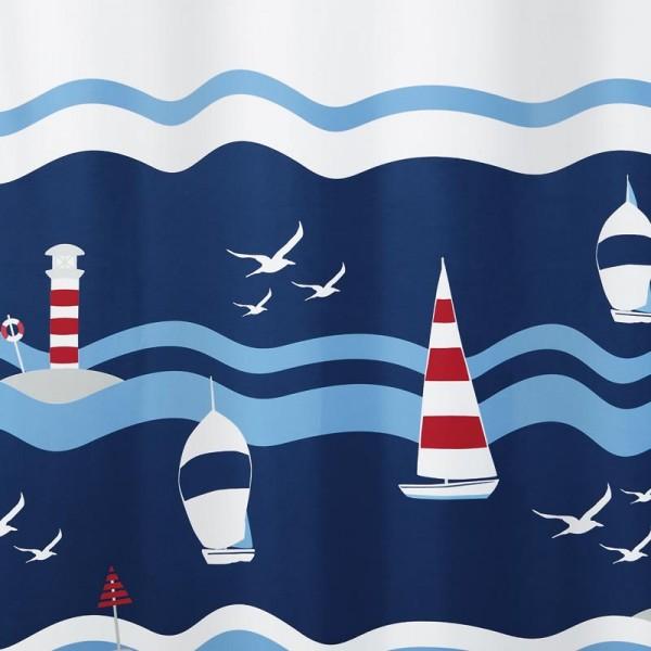 Duschvorhang Textil Clipperi 180x200