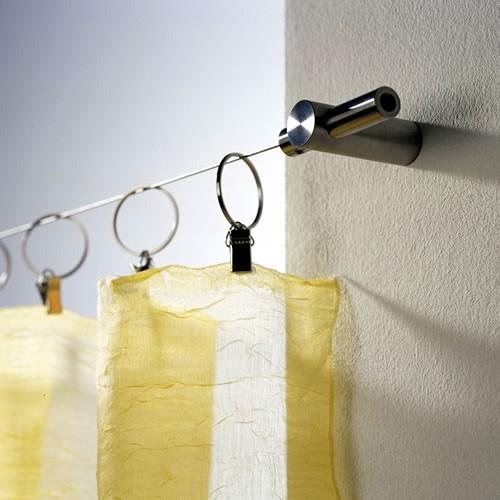 Lateral Seilaufhängung für Duschvorhang