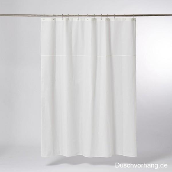 DUWAX Textil Duschvorhang Natur