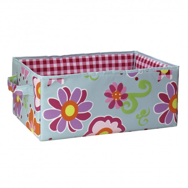 Aufbewahrungsbox 35x25x15cm Flower Blue L