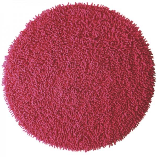 Badteppich rund Chenille Rouge Rot
