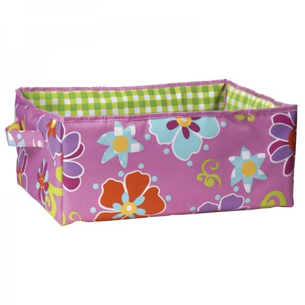 Aufbewahrungsbox 35x25x15cm Flower Pink L