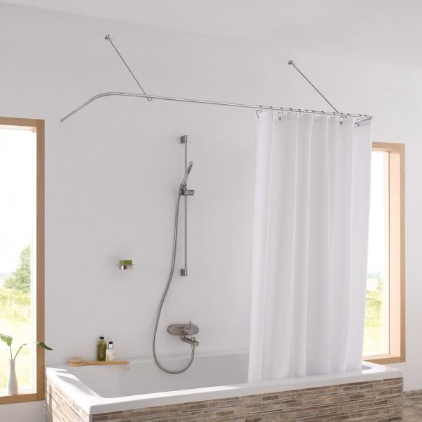 Altbau Duschvorhangstangen Badewanne U Form mit Diagonal Wandhalterung