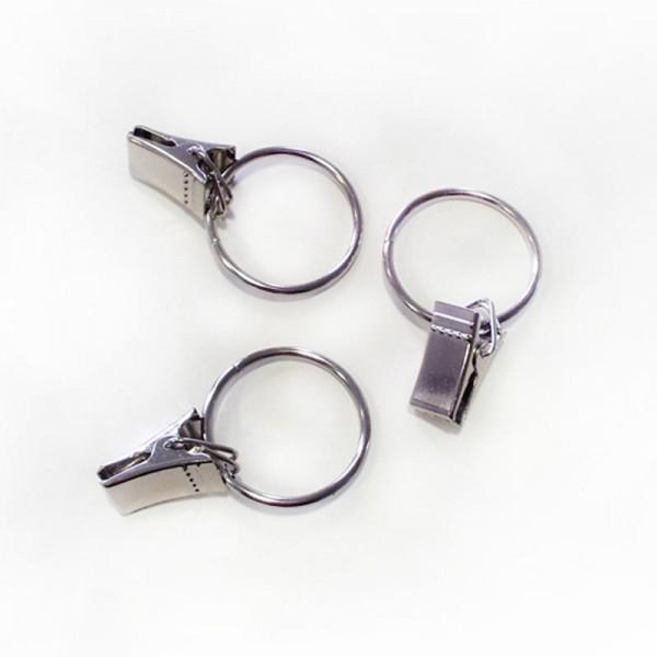 Duschvorhang Ring mit Kroko Haken - Edelstahl