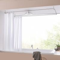 Duschvorhangstange Rechteck - Deckenmontage Duschvorhang
