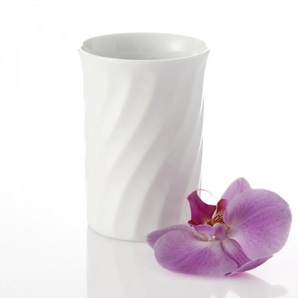 Mundspülbecher Porzellan Weiß Gedreht