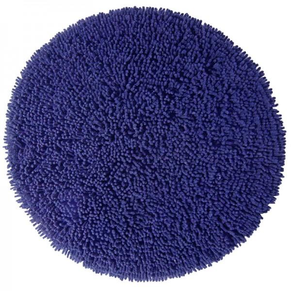 Badezimmerteppich rund Chenille Royal Blue - Blau
