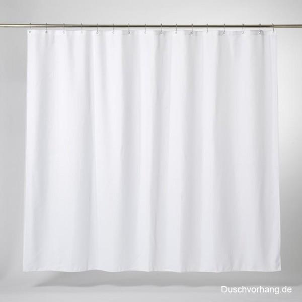 Duschvorhang XL Textil Weiß 260x200 Trevira CS
