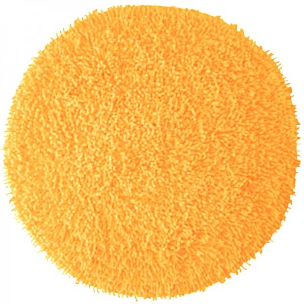 Badezimmerteppich rund Chenille Orange Popsicle