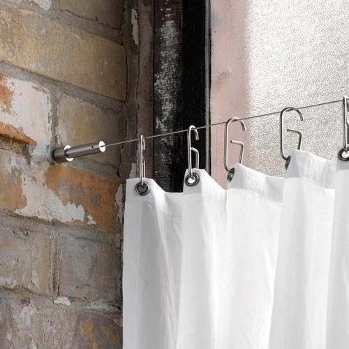 Axial Seilaufhängung für Duschvorhang