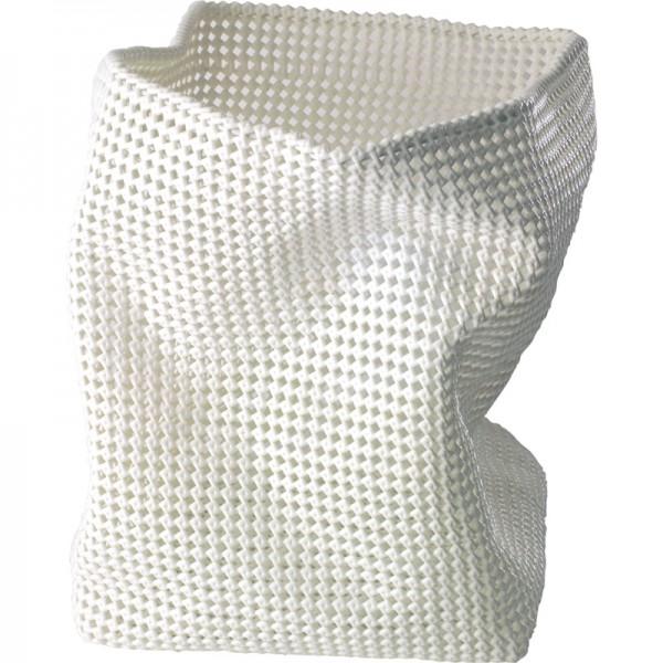 Wäschekorb Knotty 40x30x30cm weiß