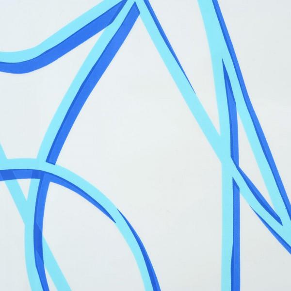 Duschvorhang 180x200 SPAGHETTI Blau