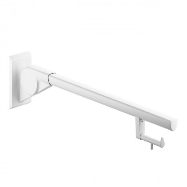 Haltegriff Aufstehhilfe Stützklappgriff mit Toilettenpapierhalter weiß