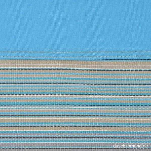Duschvorhang Textil 180x200 Streifen Blau Horizontal