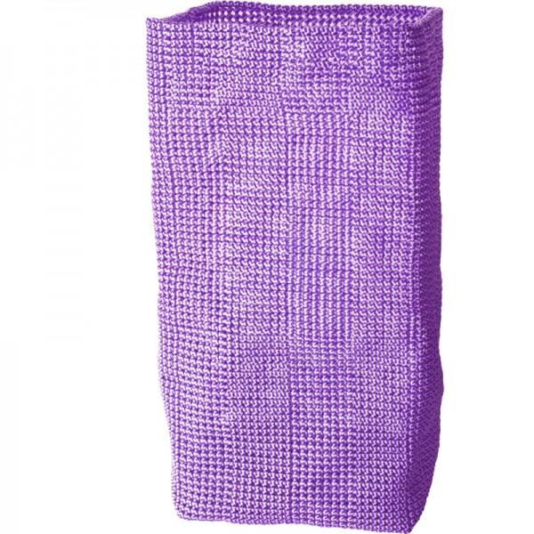 Wäschekorb geflochten Knotty 30x30x60cm lila weiß