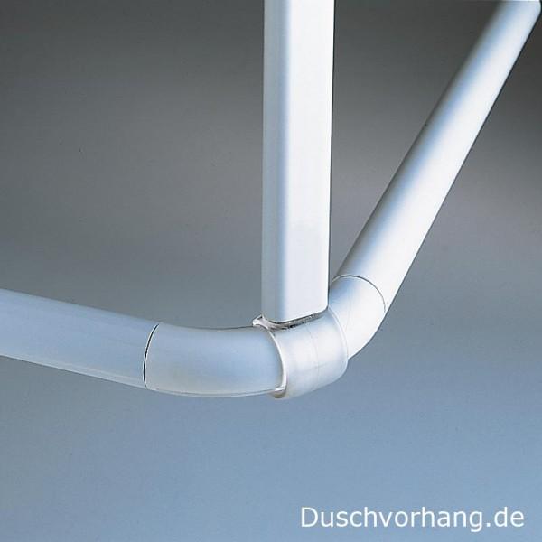 Deckenhalterung für Duschvorhangstange Universal - Aluminium