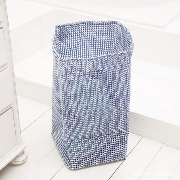 Wäschekorb Knotty 30x30x60cm blau weiß