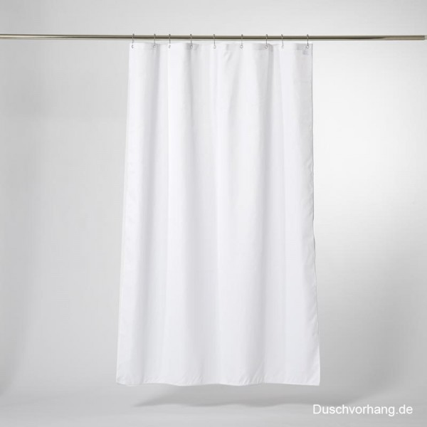 Duschvorhang Textil Weiß 100x220 Trevira CS