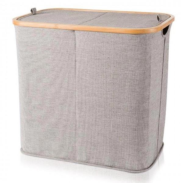 MÖVE Wäschekorb Bambus 2 Fach - mit Deckel