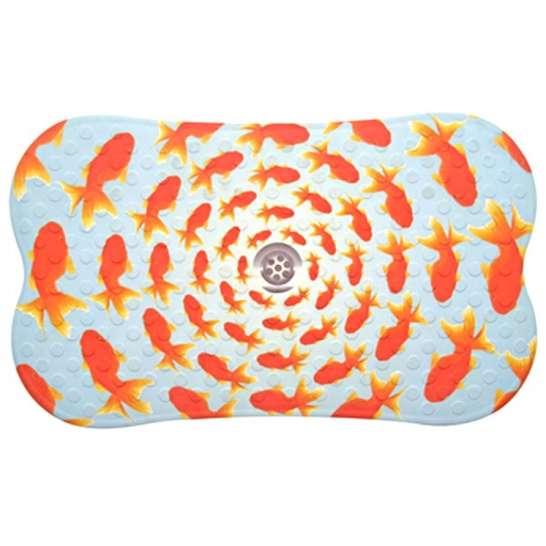 Antirutsch Badematte Gummi Design Goldfisch 70x40cm