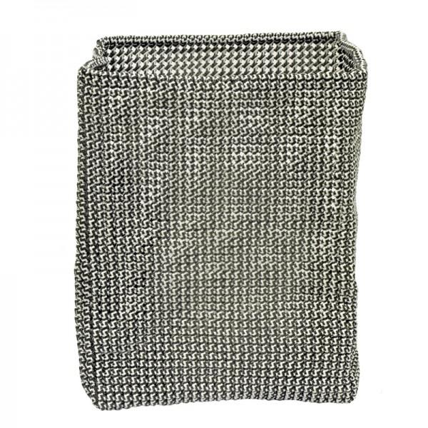 Wäschekorb geflochten Knotty 40x30x30cm schwarz weiß