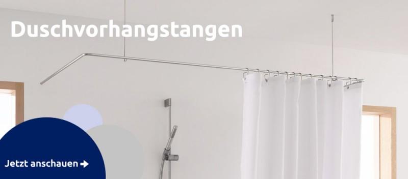 Edelstahl Duschvorhangstange L Form U Kreis für Badewanne Ecke Duschnische Maßanfertigung