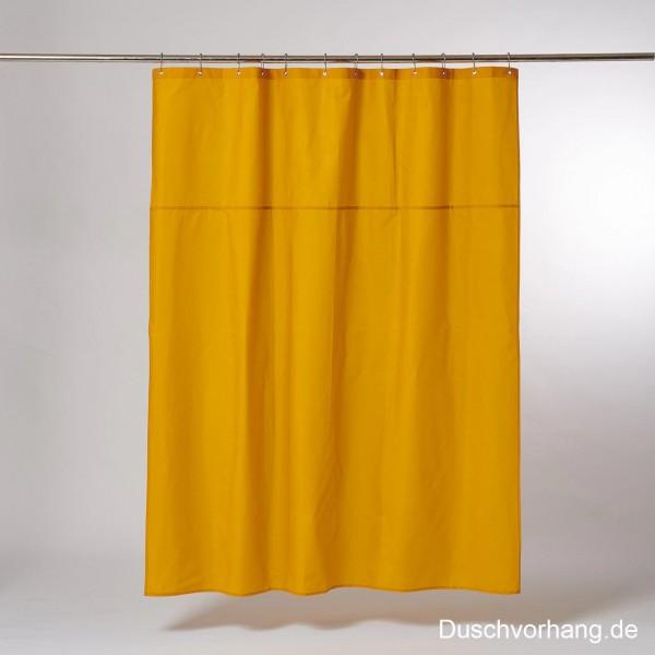 DUWAX Textil Duschvorhang Gelb