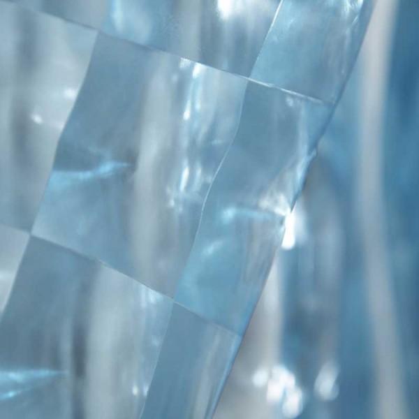 Duschvorhang 180x180 Glasbaustein Blau